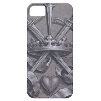 Swords Crown and Heart iPhone 5 Case