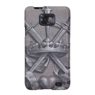 Swords Crown and Heart Samsung Galaxy S2 Cases