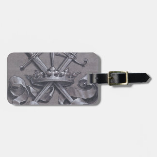 Swords Crown and Heart Luggage Tag