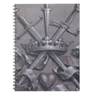 Swords Crown and Heart Notebook