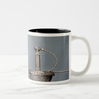 Swords cup-hilted rapier of chiselled steel mugs