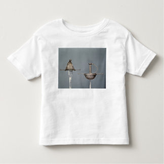 Swords: cup-hilted rapier of chiselled steel t-shirts