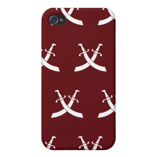 Swords White Red iPhone 4/4S Case