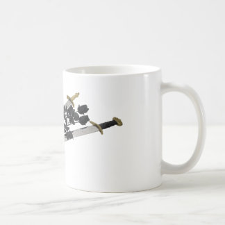 SwordsBlackRoses061209 Basic White Mug
