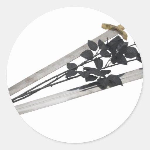 SwordsBlackRoses061209 Sticker
