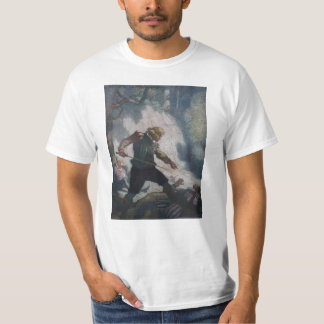 Swordsmen on a Cliff T-shirt