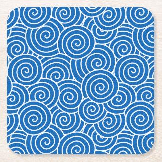 Swrils Square Paper Coaster