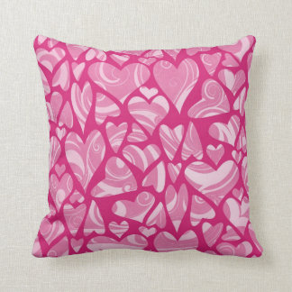 Swrily Pink Hearts Pillow