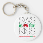 SWS is the Welsh for Kiss! Key Chains