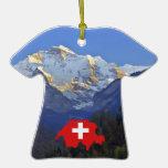 Swtzerland Jungfrau and flag Ornament