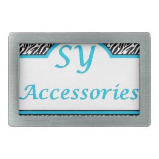 SY Acessories Logo Rectangular Belt Buckles