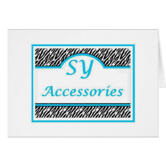 SY Acessories Logo Greeting Cards