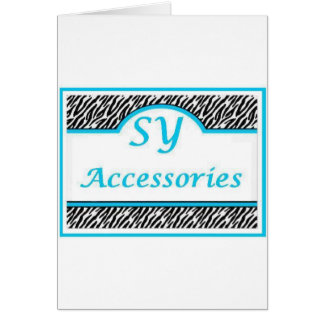 SY Acessories Logo Greeting Card