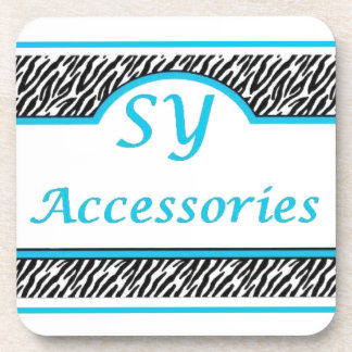 SY Acessories Logo Drink Coasters