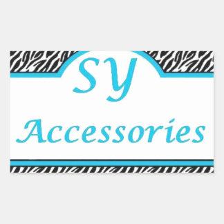 SY Acessories Logo Rectangular Sticker