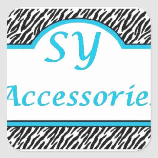 SY Acessories Logo Square Stickers