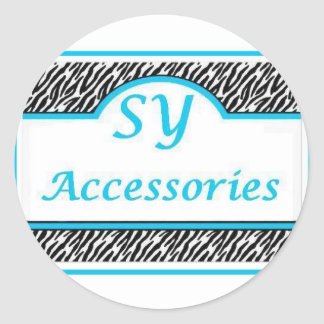 SY Acessories Logo Round Sticker