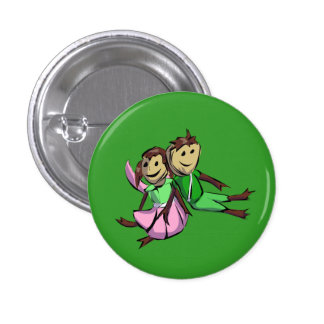 Sy and Lillie 3 Cm Round Badge