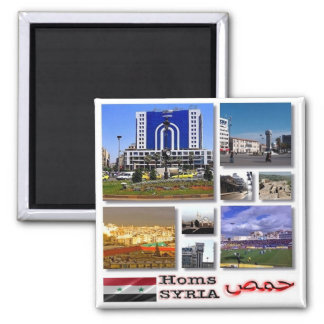 SY - Syria - Homs - Collage Mosaic Square Magnet
