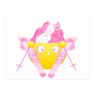 Sybille Ski - Pink Postcard