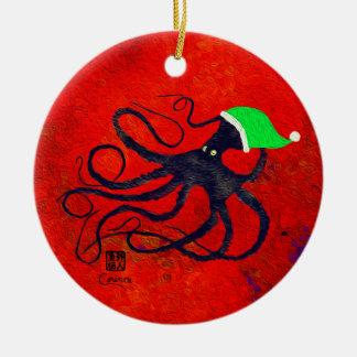Sybille's Christmas Octo - Circle Ornament