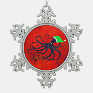 Sybille's Octo Christmas Snowflake Pewter Christmas Ornament