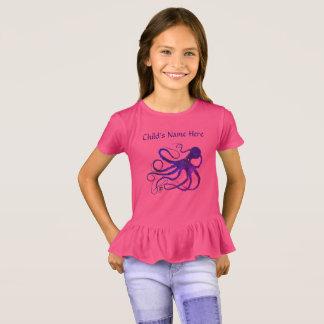 Sybille's Octopus - Girl's Ruffled T-shirt
