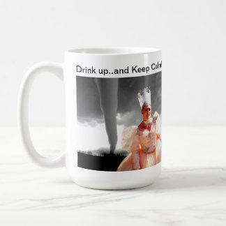 "Sybil's ""Drink up...and Keep Calm"" Mug. Coffee Mug"