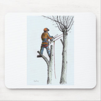 Sycamore and stihl 020t mouse pad