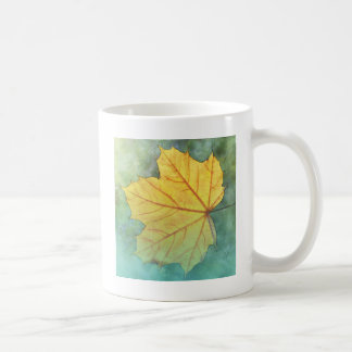 Sycamore Maple Autumn Leaf Coffee Mug