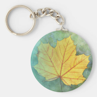 Sycamore Maple Autumn Leaf Key Ring