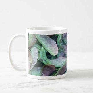Sycamore seeds basic white mug