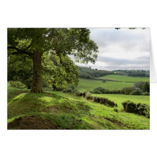 Sycharth in Powys, Wales, During Autumn Equinox Card