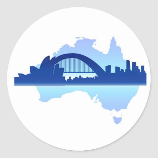 Sydney Australia 3 Classic Round Sticker