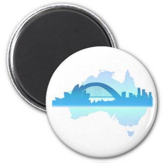 Sydney Australia 6 Cm Round Magnet