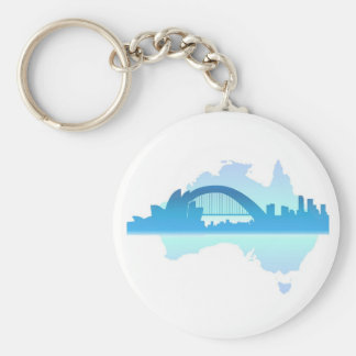 Sydney Australia Basic Round Button Key Ring