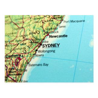 Sydney, Australia City Map Post Cards