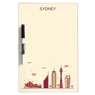 Sydney, Australia | Doodle Skyline Dry Erase Board