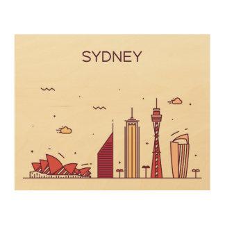 Sydney, Australia   Doodle Skyline Wood Prints