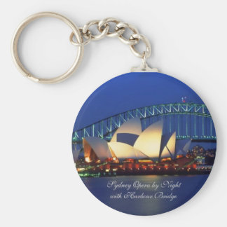 Sydney Australia, Opera by Night - Keychain