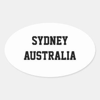 Sydney Australia oval stickers