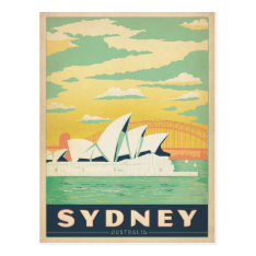 Sydney, Australia Postcard at Zazzle