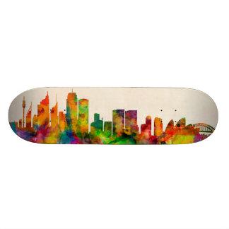 Sydney Australia Skyline Cityscape 18.1 Cm Old School Skateboard Deck