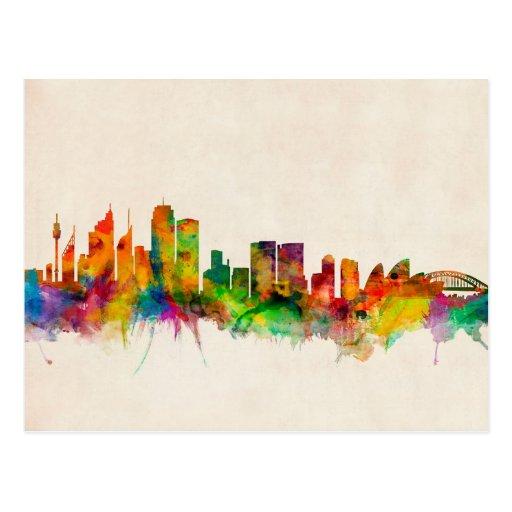 Sydney Australia Skyline Cityscape Postcard