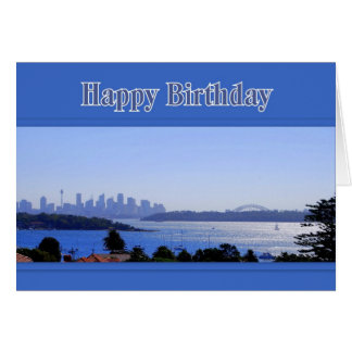 Sydney, Australia, Skyline Happy Birthday Greeting Card