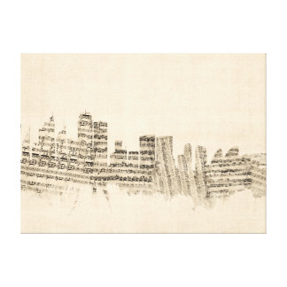 Sydney Australia Skyline Sheet Music Cityscape Canvas Prints