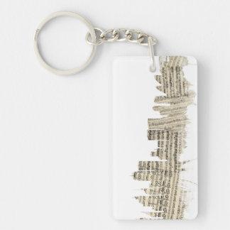 Sydney Australia Skyline Sheet Music Cityscape Double-Sided Rectangular Acrylic Key Ring