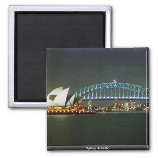 Sydney, Australia Square Magnet