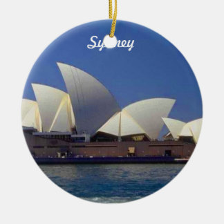 Sydney Australia Travel Christmas Ornament