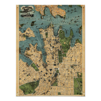 Sydney, AustraliaPanoramic Map Poster